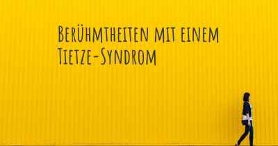 Tietze Syndrom Erfahrungen