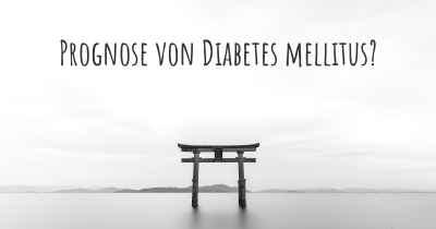 Prognose von Diabetes mellitus?