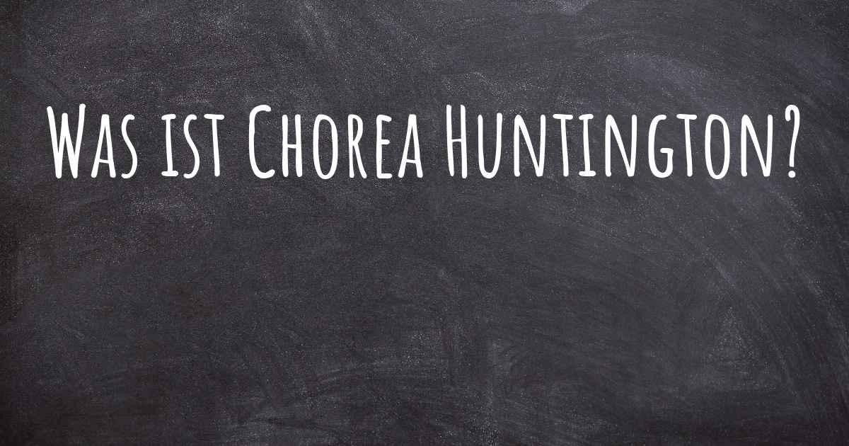 Chorea Huntington Forum