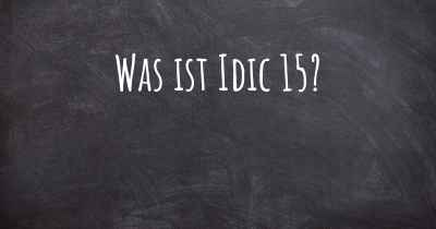 Was ist Idic 15?
