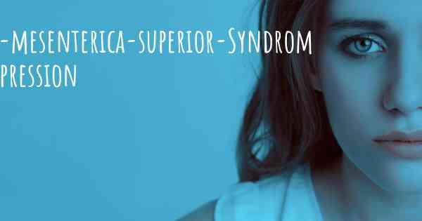 ▷ Arteria-mesenterica-superior-Syndrom und Depression. Kann ein ...