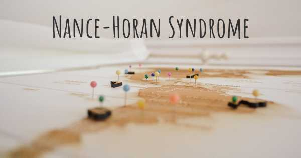 Nance-Horan Syndrome