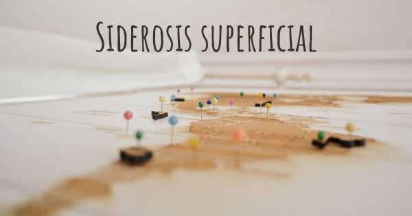 Siderosis superficial
