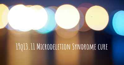 19q13.11 Microdeletion Syndrome cure