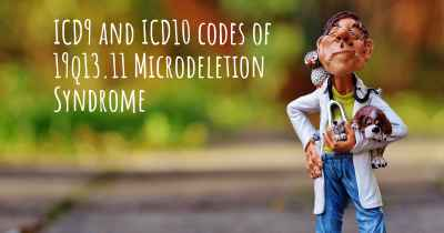 ICD9 and ICD10 codes of 19q13.11 Microdeletion Syndrome