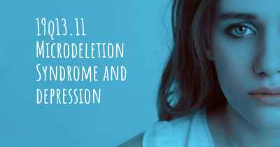19q13.11 Microdeletion Syndrome and depression