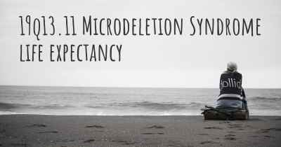 19q13.11 Microdeletion Syndrome life expectancy