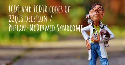 ICD9 and ICD10 codes of 22q13 deletion / Phelan-McDermid Syndrome