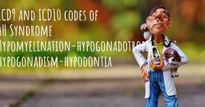 ICD9 and ICD10 codes of 4H Syndrome Hypomyelination-hypogonadotropic hypogonadism-hypodontia