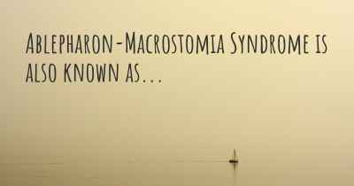 Ablepharon-Macrostomia Syndrome is also known as...