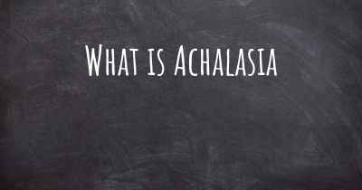 What is Achalasia