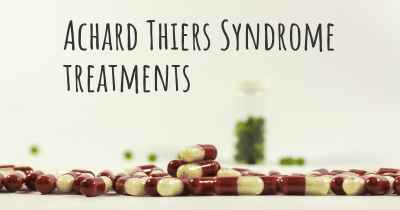 Achard Thiers Syndrome treatments