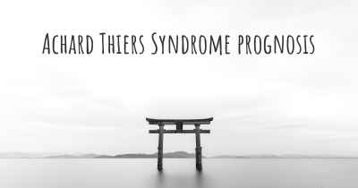 Achard Thiers Syndrome prognosis