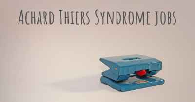 Achard Thiers Syndrome jobs