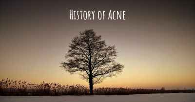 History of Acne