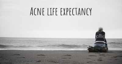 Acne life expectancy