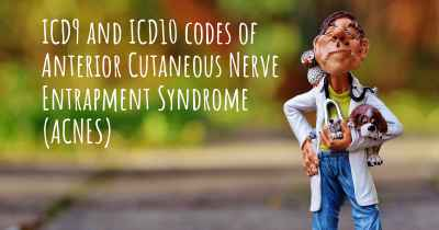 ICD9 and ICD10 codes of Anterior Cutaneous Nerve Entrapment Syndrome (ACNES)