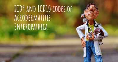 ICD9 and ICD10 codes of Acrodermatitis Enteropathica