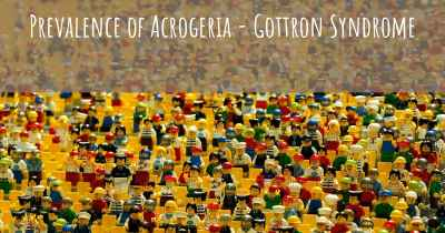 Prevalence of Acrogeria - Gottron Syndrome