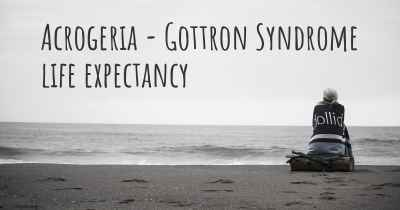 Acrogeria - Gottron Syndrome life expectancy