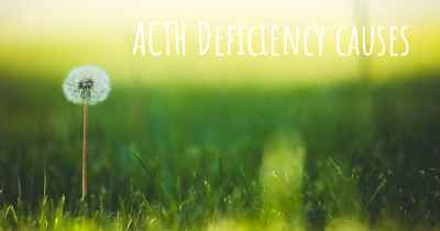ACTH Deficiency causes