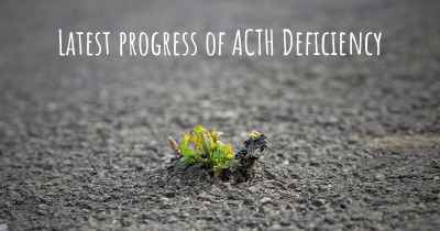 Latest progress of ACTH Deficiency