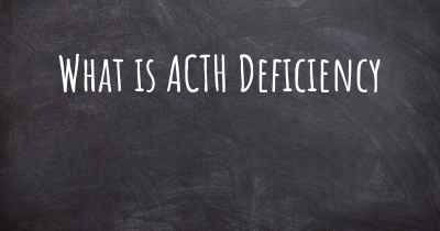 What is ACTH Deficiency