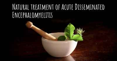 Natural treatment of Acute Disseminated Encephalomyelitis