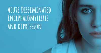 Acute Disseminated Encephalomyelitis and depression