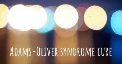 Adams-Oliver syndrome cure