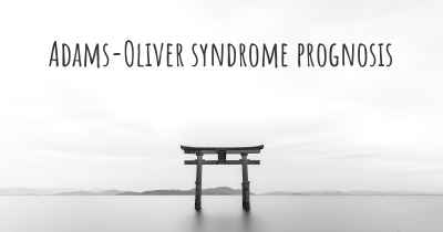 Adams-Oliver syndrome prognosis