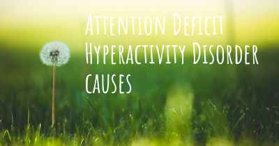 Attention Deficit Hyperactivity Disorder causes