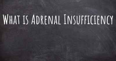 What is Adrenal Insufficiency