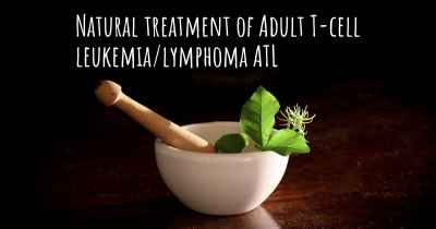 Natural treatment of Adult T-cell leukemia/lymphoma ATL