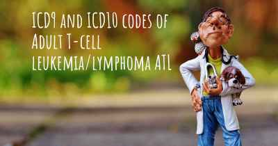 ICD9 and ICD10 codes of Adult T-cell leukemia/lymphoma ATL
