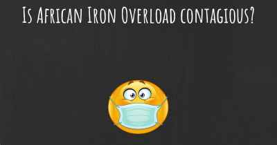 Is African Iron Overload contagious?