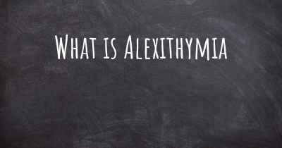 What is Alexithymia