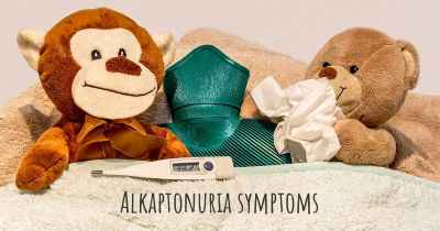 Alkaptonuria symptoms