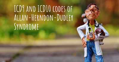 ICD9 and ICD10 codes of Allan-Herndon-Dudley Syndrome