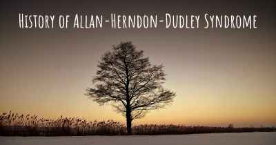 History of Allan-Herndon-Dudley Syndrome