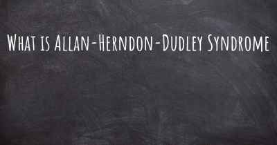 What is Allan-Herndon-Dudley Syndrome