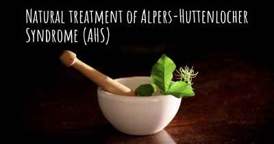 Natural treatment of Alpers-Huttenlocher Syndrome (AHS)