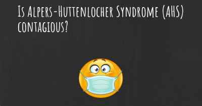 Is Alpers-Huttenlocher Syndrome (AHS) contagious?