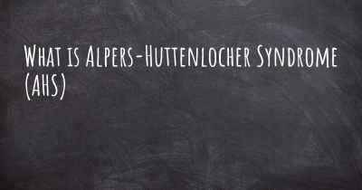 What is Alpers-Huttenlocher Syndrome (AHS)