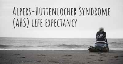Alpers-Huttenlocher Syndrome (AHS) life expectancy