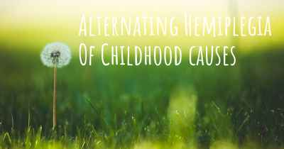 Alternating Hemiplegia Of Childhood causes