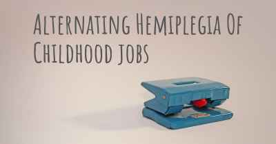 Alternating Hemiplegia Of Childhood jobs
