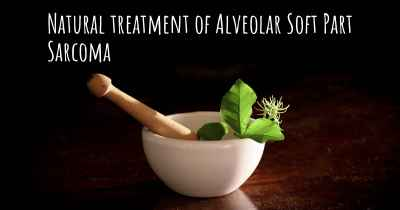 Natural treatment of Alveolar Soft Part Sarcoma