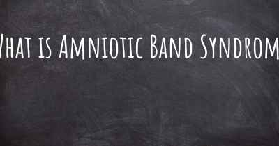 What is Amniotic Band Syndrome