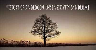 History of Androgen Insensitivity Syndrome